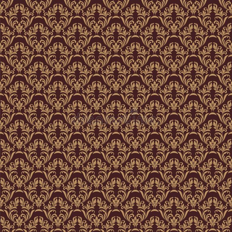 άνευ ραφής διάνυσμα προτύπ&omeg Κομψό σχέδιο στο βασιλικό μπαρόκ ύφος ελεύθερη απεικόνιση δικαιώματος