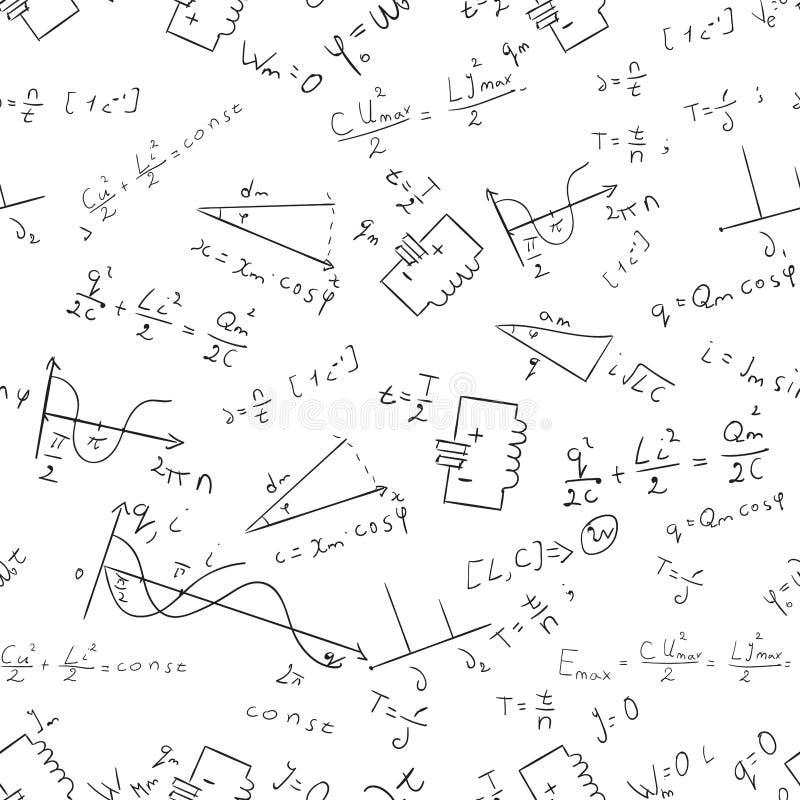 Άνευ ραφής διάνυσμα 1 σχεδίων μαθηματικών απεικόνιση αποθεμάτων
