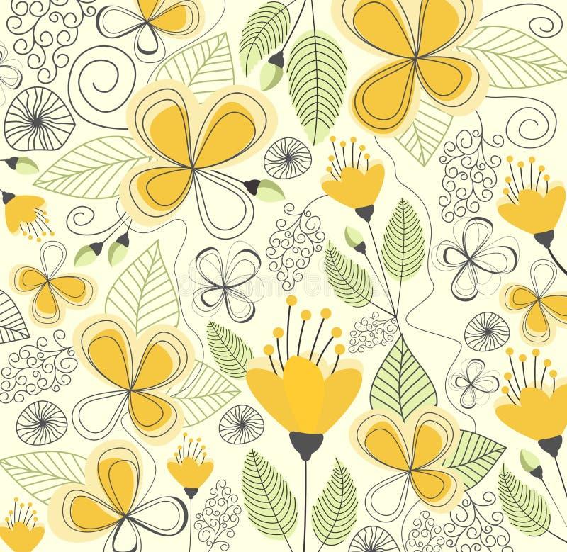 Άνευ ραφής διάνυσμα σχεδίων λουλουδιών ελεύθερη απεικόνιση δικαιώματος