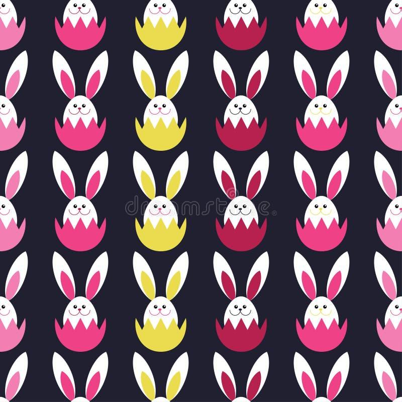 Άνευ ραφής διακοσμητικό υπόβαθρο με τα αυγά Πάσχας print Σχέδιο υφασμάτων, ταπετσαρία ελεύθερη απεικόνιση δικαιώματος