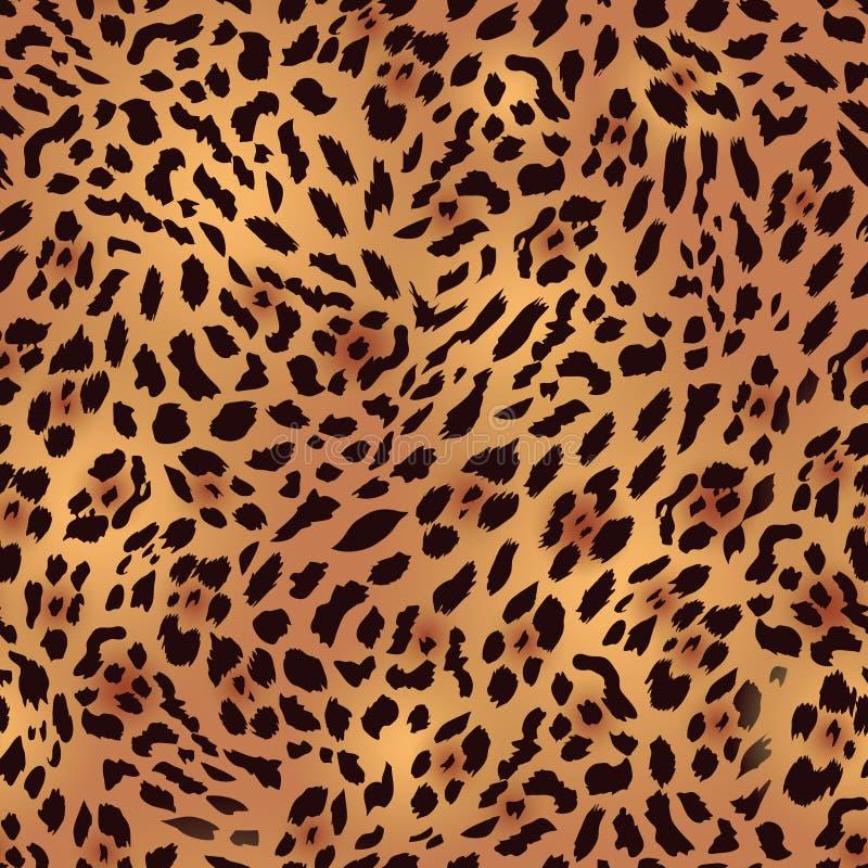 Άνευ ραφής διανυσματική τυπωμένη ύλη γουνών λεοπαρδάλεων σαφάρι διανυσματική απεικόνιση