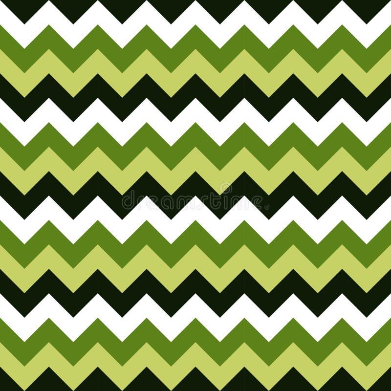 Άνευ ραφής διανυσματικός ζωηρόχρωμος άσπρος πράσινος σκούρο πράσινο γεωμετρικού σχεδίου βελών σχεδίων σιριτιών διανυσματική απεικόνιση