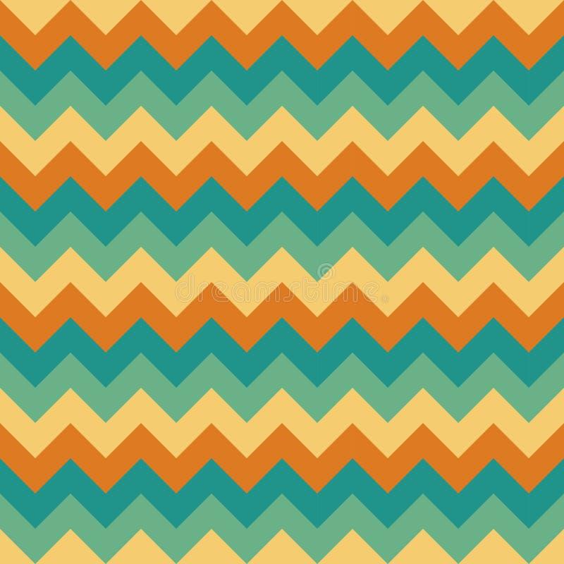 Άνευ ραφής διανυσματικό βελών σχεδίων σιριτιών γεωμετρικού σχεδίου ζωηρόχρωμο μπεζ τυρκουάζ κιρκιριών κρέμας πορτοκαλί διανυσματική απεικόνιση