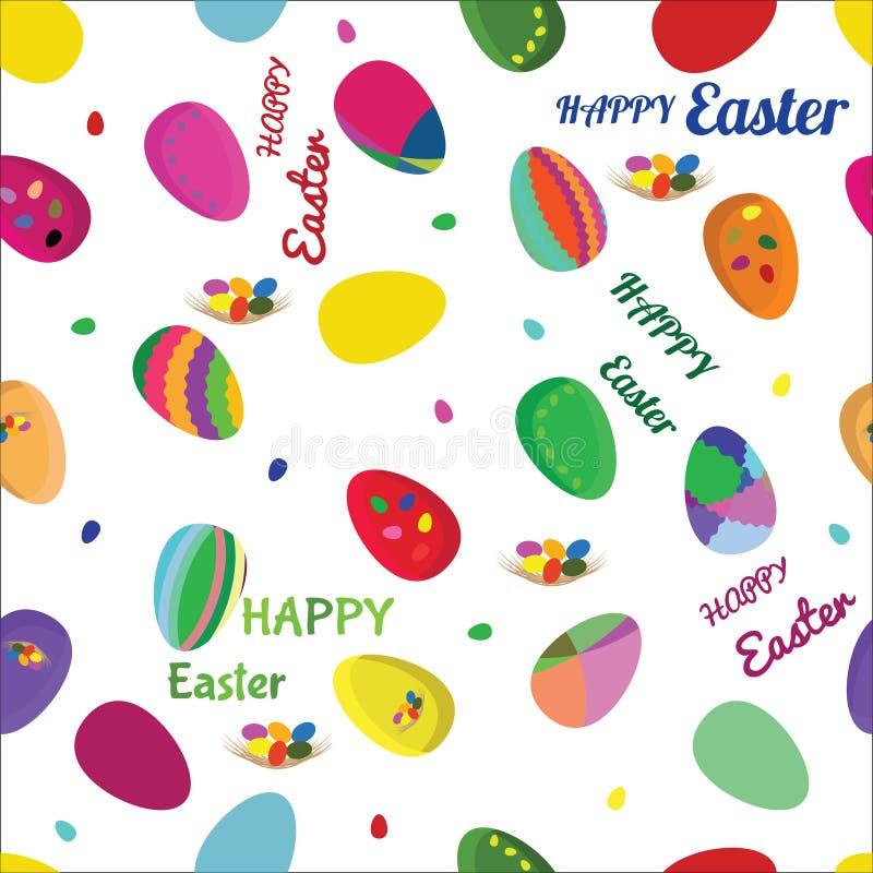 Άνευ ραφής διανυσματικό σχέδιο με τα αυγά Πάσχας διανυσματική απεικόνιση