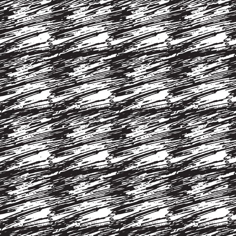 Άνευ ραφής διανυσματικό σχέδιο με τα κτυπημένα τακτοποιημένα μπαλώματα Διανυσματική συρμένη χέρι σύσταση Υπόβαθρο κραγιονιών διανυσματική απεικόνιση