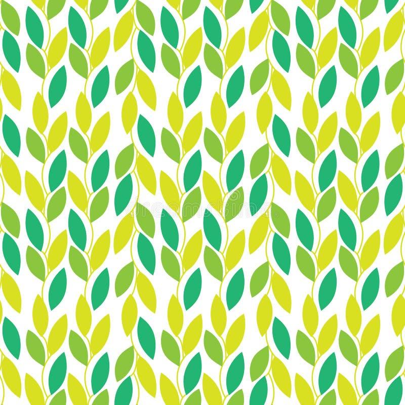 Άνευ ραφής διανυσματικό σχέδιο φύσης με τις αμπέλους και τα φύλλα ελεύθερη απεικόνιση δικαιώματος