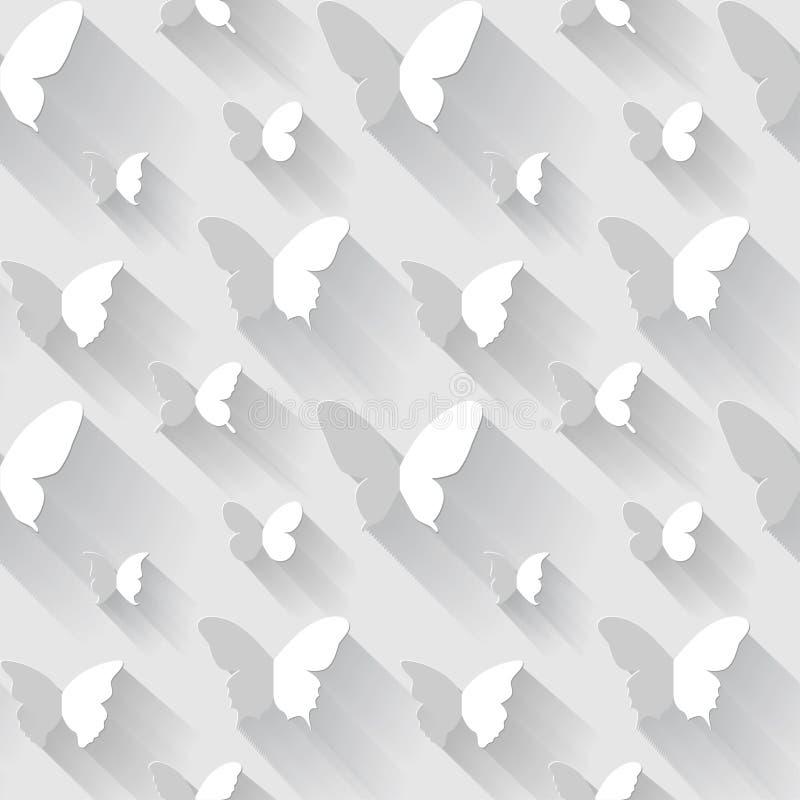 Άνευ ραφής διανυσματικό υπόβαθρο πεταλούδων ελεύθερη απεικόνιση δικαιώματος