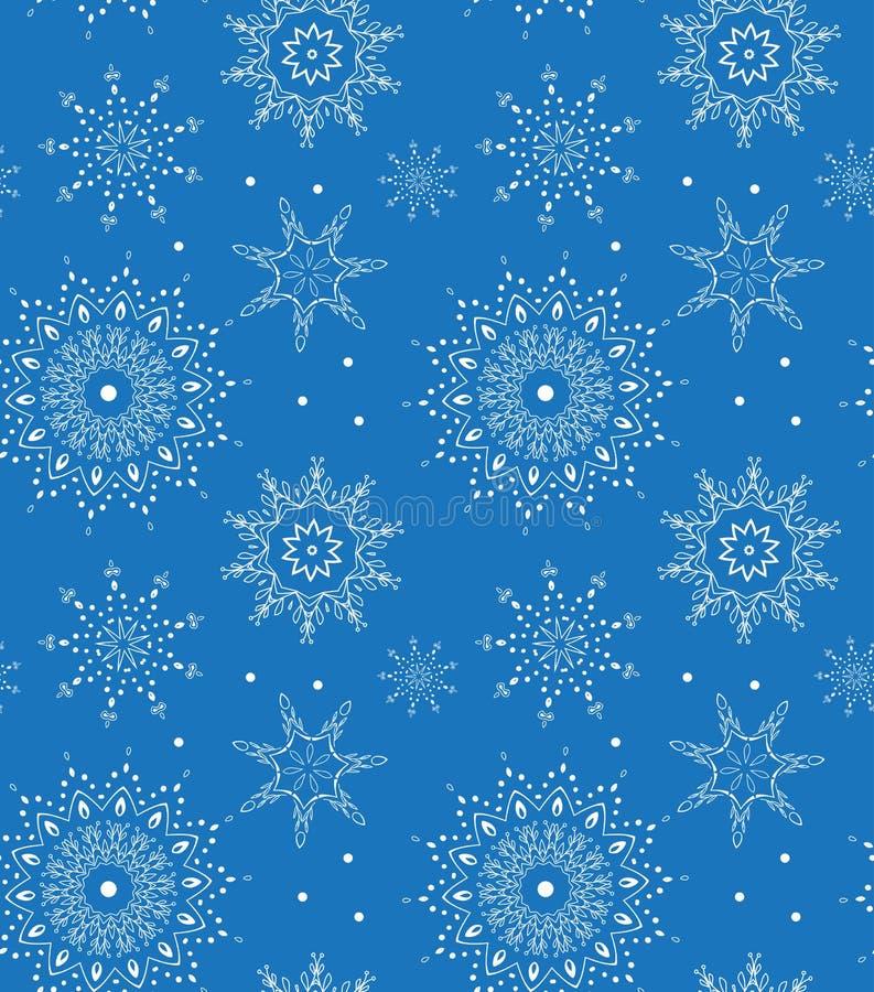 Άνευ ραφής διανυσματικό snowflake σχέδιο Τελειοποιήστε για την εκτύπωση στο ύφασμα ή χαρτί ελεύθερη απεικόνιση δικαιώματος