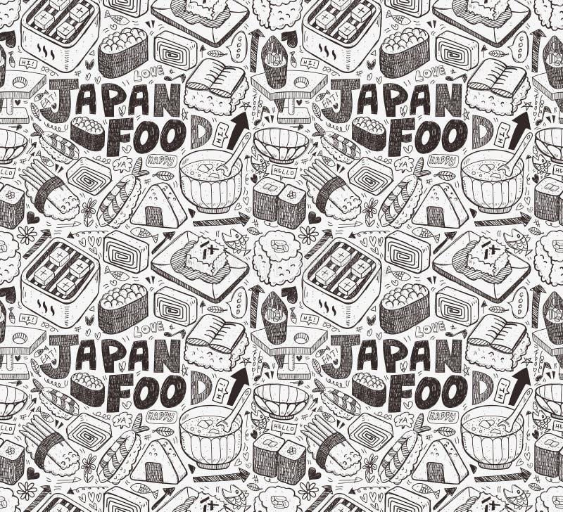 Άνευ ραφής ιαπωνικό σχέδιο σουσιών διανυσματική απεικόνιση