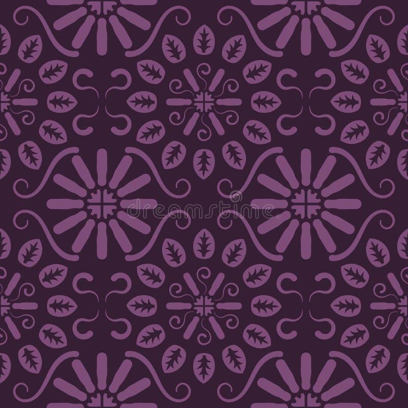 Άνευ ραφής ιώδες floral σχέδιο, διάνυσμα Η ατελείωτη σύσταση μπορεί να χρησιμοποιηθεί για την ταπετσαρία, το σχέδιο γεμίζει, υπόβ διανυσματική απεικόνιση