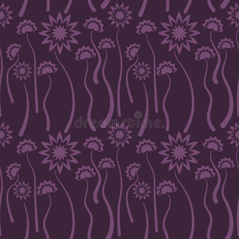 Άνευ ραφής ιώδες floral σχέδιο, διάνυσμα Η ατελείωτη σύσταση μπορεί να χρησιμοποιηθεί για την ταπετσαρία, το σχέδιο γεμίζει, υπόβ ελεύθερη απεικόνιση δικαιώματος