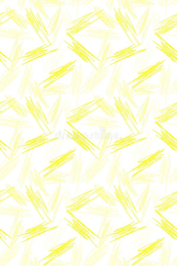 Άνευ ραφής κίτρινο γεωμετρικό σχέδιο γρατσουνιών διανυσματική απεικόνιση