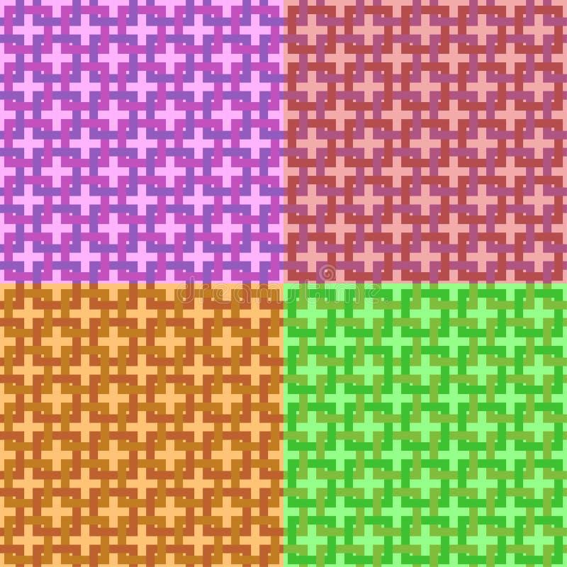 άνευ ραφής καθορισμένο δ&iota Σύγχρονη μοντέρνη σύσταση των ενδασφαλίζοντας τετραγώνων Επανάληψη του γεωμετρικού πλέγματος Απλό g απεικόνιση αποθεμάτων