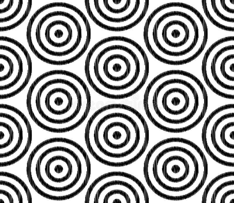 Άνευ ραφής κατασκευασμένο σχέδιο πλέγματος κύκλων απεικόνιση αποθεμάτων