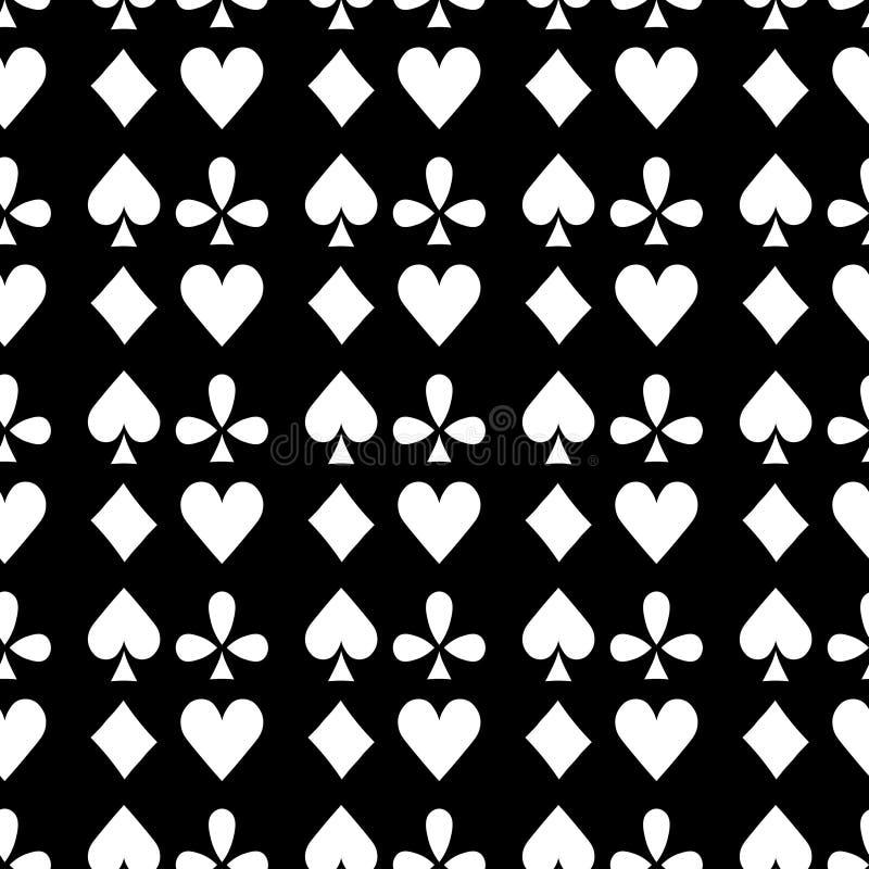 Άνευ ραφής κοστούμι Bubi, καρδιές, σταυροί, επίπληξη καρτών παιχνιδιού σχεδίων ελεύθερη απεικόνιση δικαιώματος