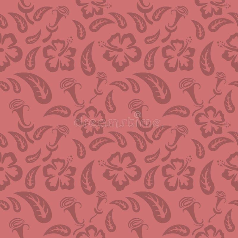 Άνευ ραφής κόκκινο floral σχέδιο, διάνυσμα Η ατελείωτη σύσταση μπορεί να χρησιμοποιηθεί για την ταπετσαρία, το σχέδιο γεμίζει, υπ διανυσματική απεικόνιση