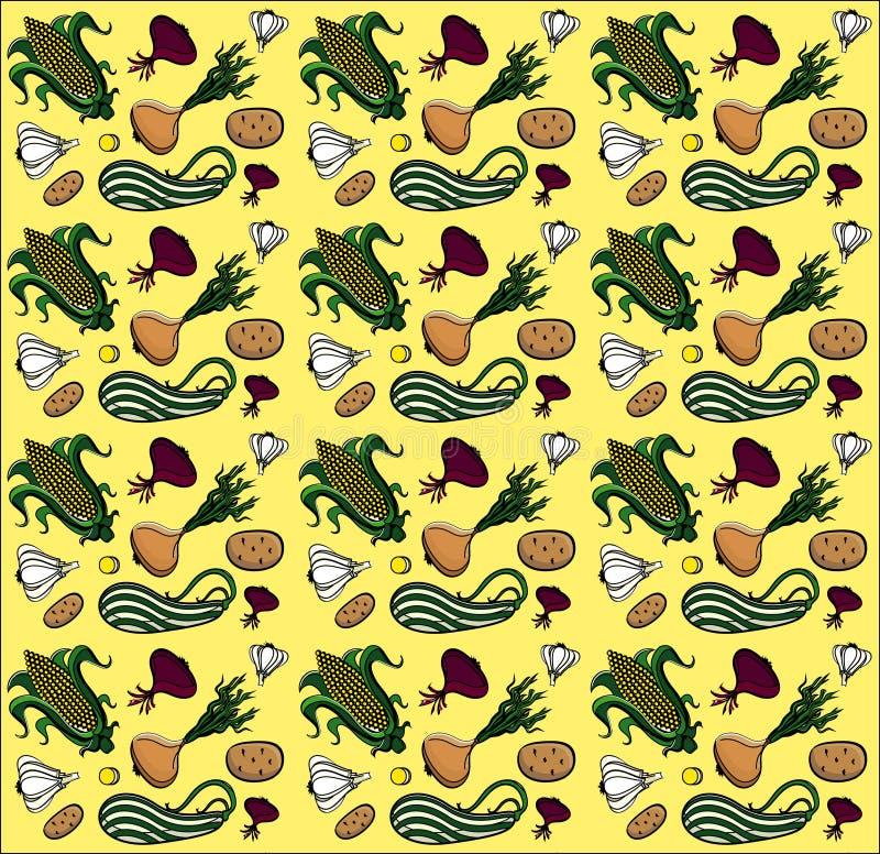 άνευ ραφής λαχανικά θερινή& ελεύθερη απεικόνιση δικαιώματος