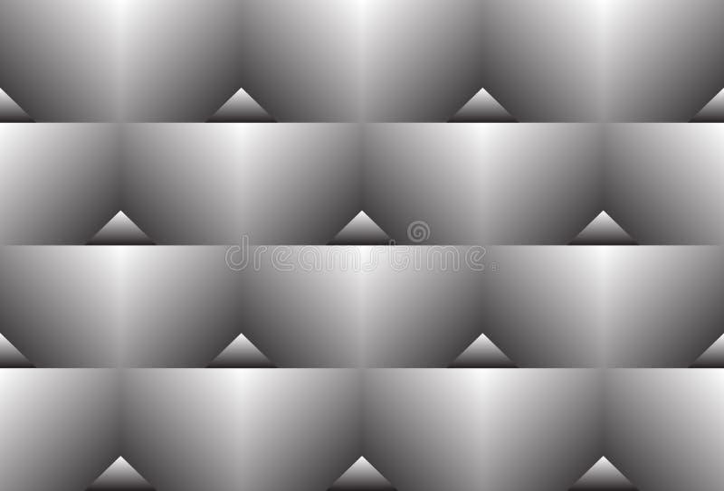 Άνευ ραφής λευκό στο μαύρο χρώματος μετάβασης σχέδιο κλίσης τριγώνων ημίτονο ελεύθερη απεικόνιση δικαιώματος