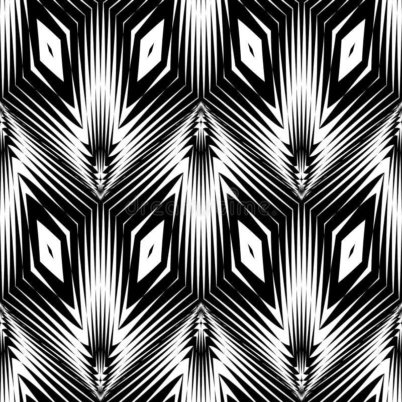 Download Άνευ ραφής μονοχρωματικό γεωμετρικό σχέδιο σχεδίου Διανυσματική απεικόνιση - εικονογραφία από παραλληλόγραμμο, lattice: 62715745