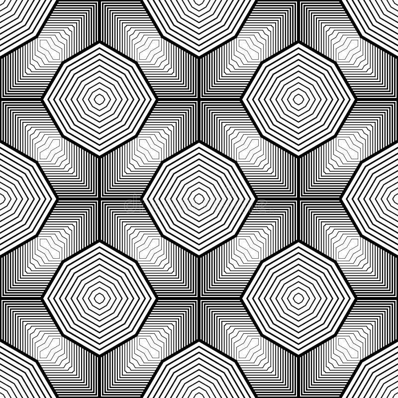 Download Άνευ ραφής μονοχρωματικό γεωμετρικό σχέδιο σχεδίου Διανυσματική απεικόνιση - εικονογραφία από μαύρα, σύσταση: 62716895