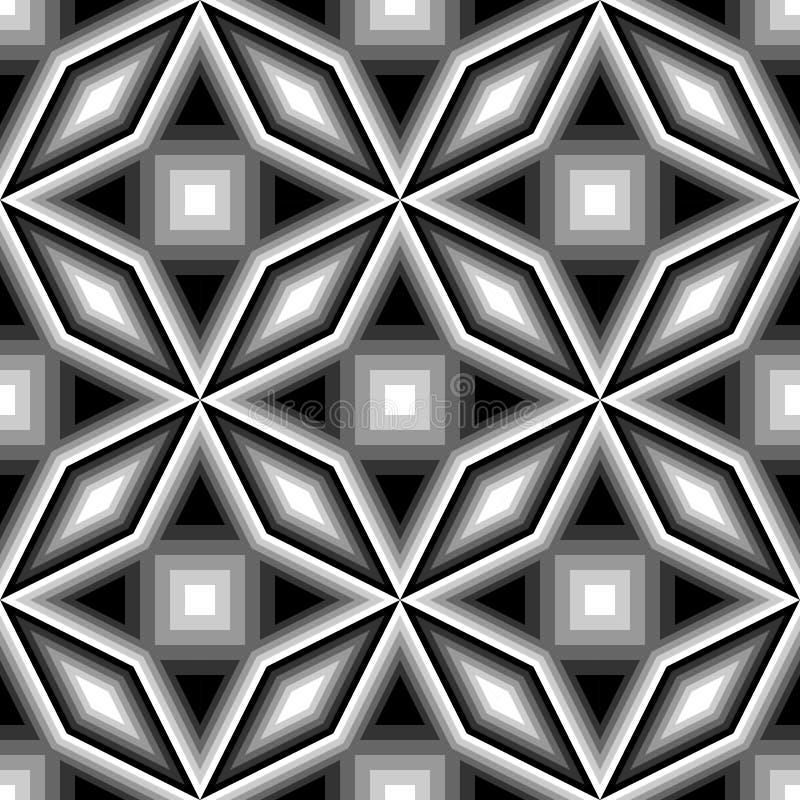 Download Άνευ ραφής μονοχρωματικό γεωμετρικό σχέδιο σχεδίου Διανυσματική απεικόνιση - εικονογραφία από ανασκόπησης, arroyos: 62717616