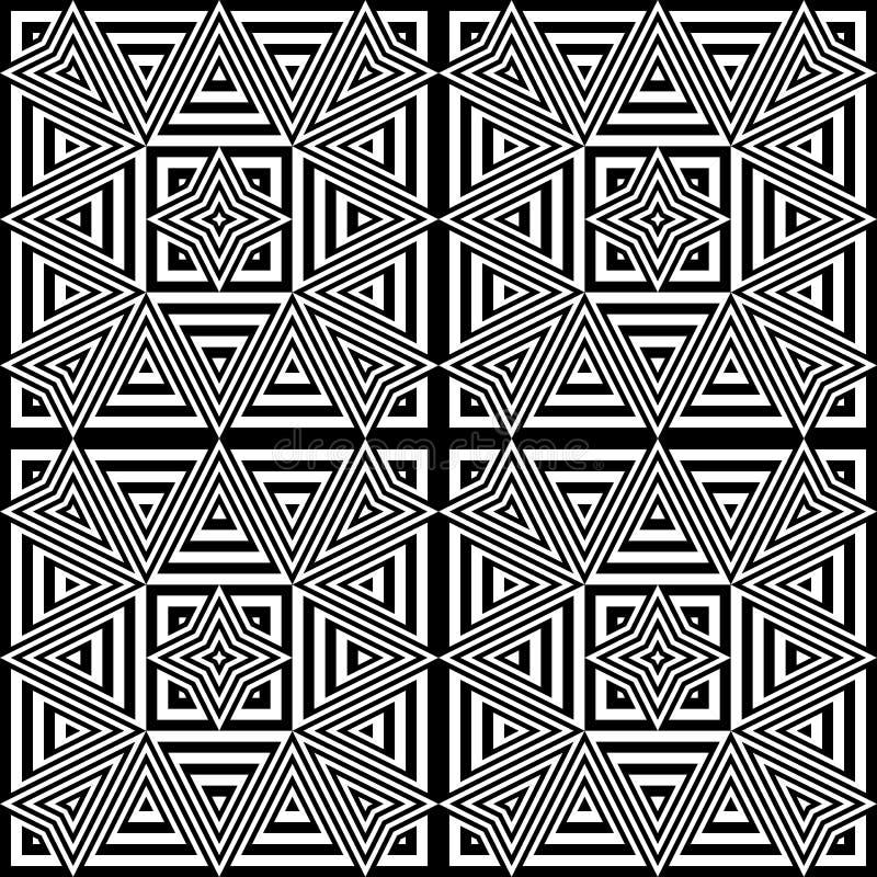 Download Άνευ ραφής μονοχρωματικό γεωμετρικό σχέδιο σχεδίου Διανυσματική απεικόνιση - εικονογραφία από σύγχρονος, arroyos: 62717719