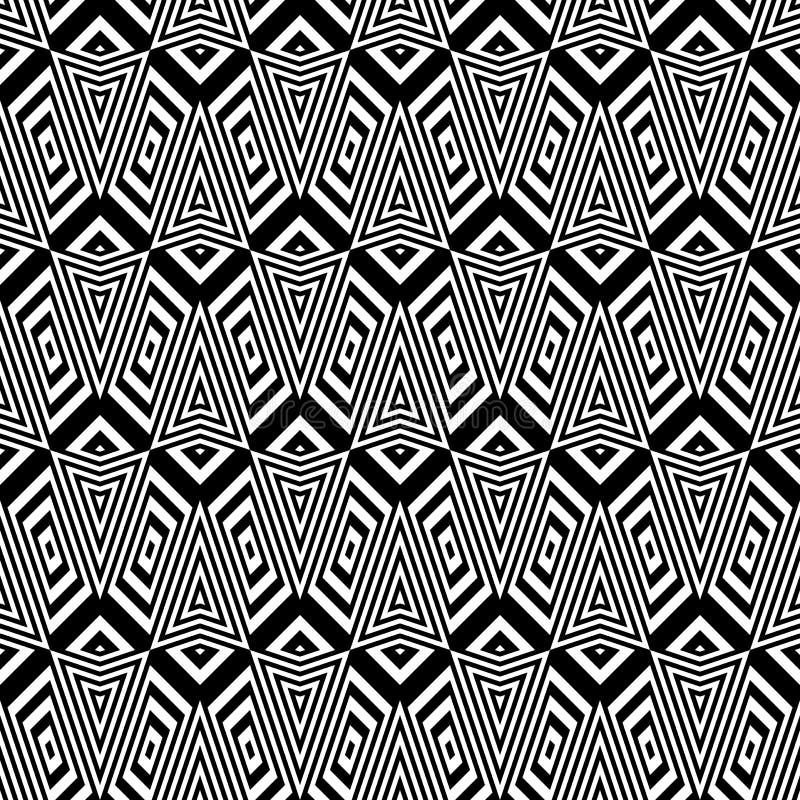 Download Άνευ ραφής μονοχρωματικό γεωμετρικό σχέδιο σχεδίου Διανυσματική απεικόνιση - εικονογραφία από αρχιεπισκόπων, τριγωνικός: 62717765