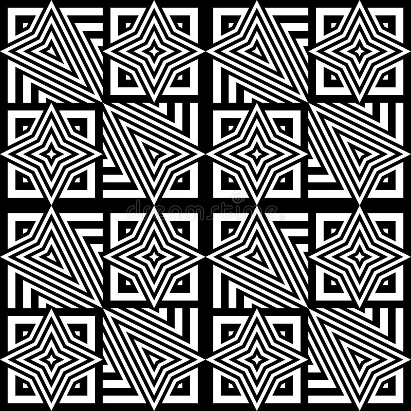 Download Άνευ ραφής μονοχρωματικό γεωμετρικό σχέδιο σχεδίου Διανυσματική απεικόνιση - εικονογραφία από uncolored, seamless: 62717806