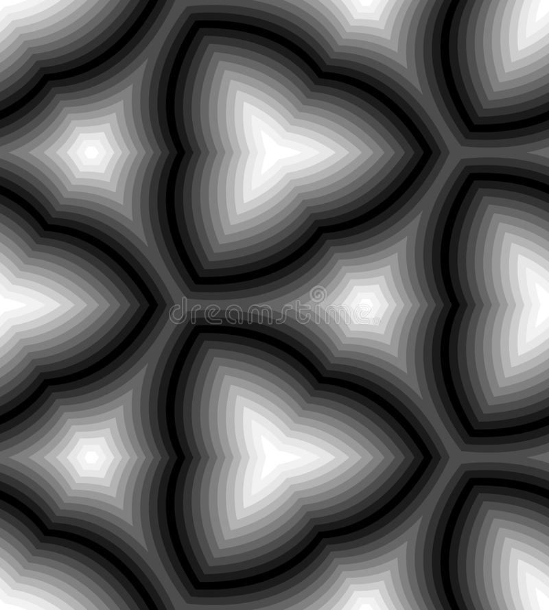 Άνευ ραφής μονοχρωματικό κυματιστό σχέδιο λωρίδων αφηρημένη ανασκόπηση γεωμ&epsil Κατάλληλος για το κλωστοϋφαντουργικό προϊόν, το διανυσματική απεικόνιση