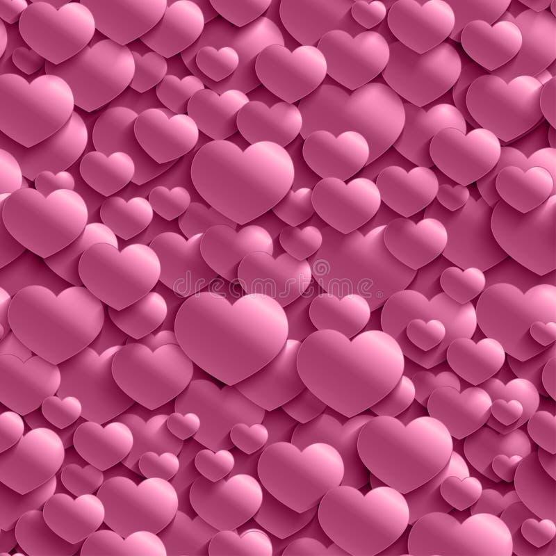 Άνευ ραφής μοντέρνο σχέδιο ημέρας βαλεντίνων ` s με τις καρδιές ελεύθερη απεικόνιση δικαιώματος