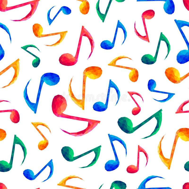 Άνευ ραφής μουσικό σχέδιο - σημειώσεις ελεύθερη απεικόνιση δικαιώματος