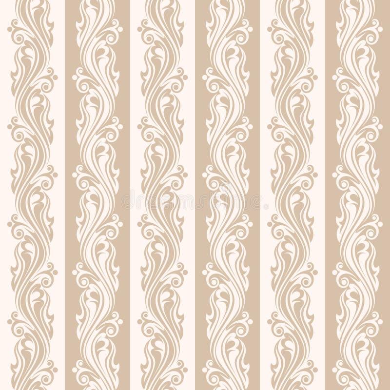 Άνευ ραφής μπεζ floral σχέδιο. διανυσματική απεικόνιση