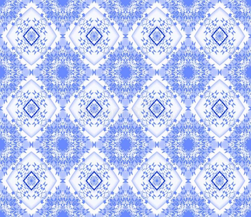 Άνευ ραφής μπλε λευκό σχεδίων διαμαντιών ελεύθερη απεικόνιση δικαιώματος