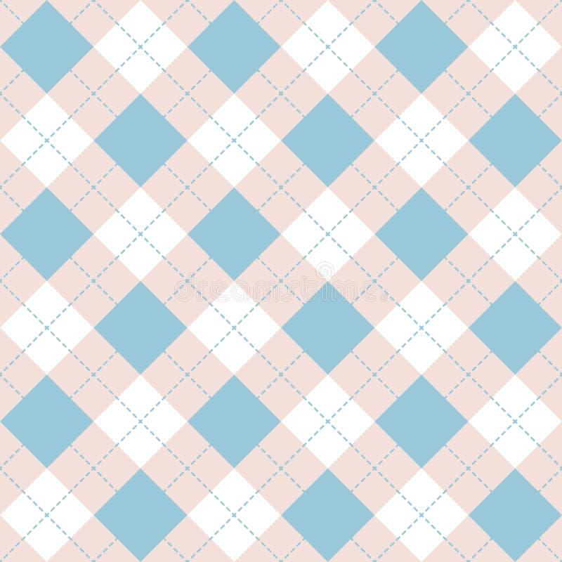 Άνευ ραφής μπλε σχέδιο καρό argyle Έλεγχος διαμαντιών ελεύθερη απεικόνιση δικαιώματος