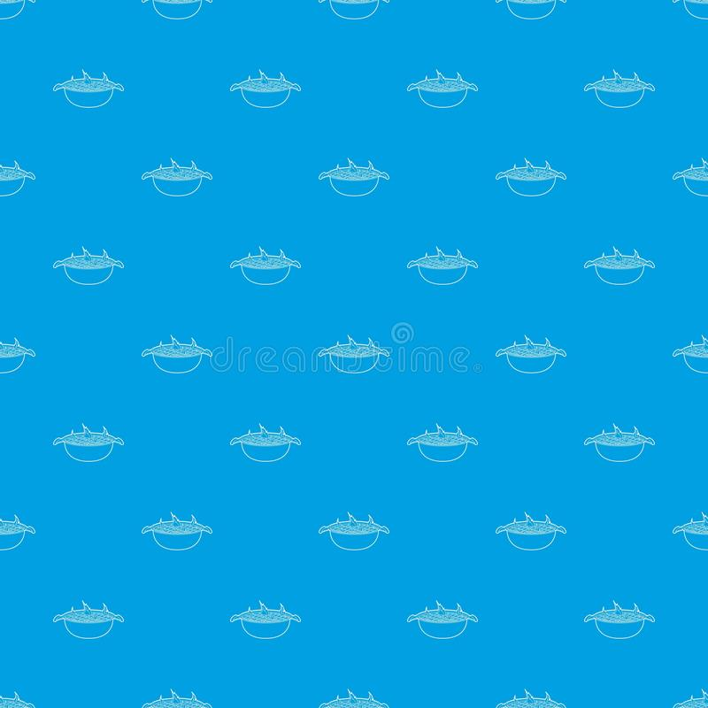 Άνευ ραφής μπλε σχεδίων σχαρών απεικόνιση αποθεμάτων
