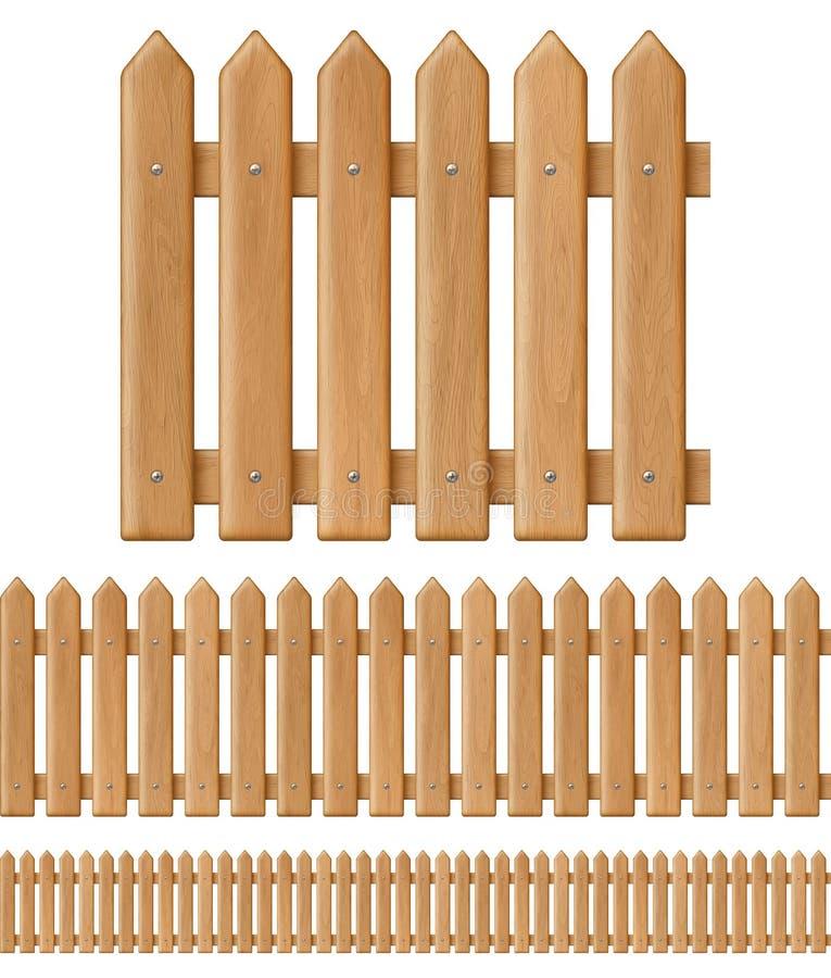 Άνευ ραφής ξύλινη φραγή ελεύθερη απεικόνιση δικαιώματος