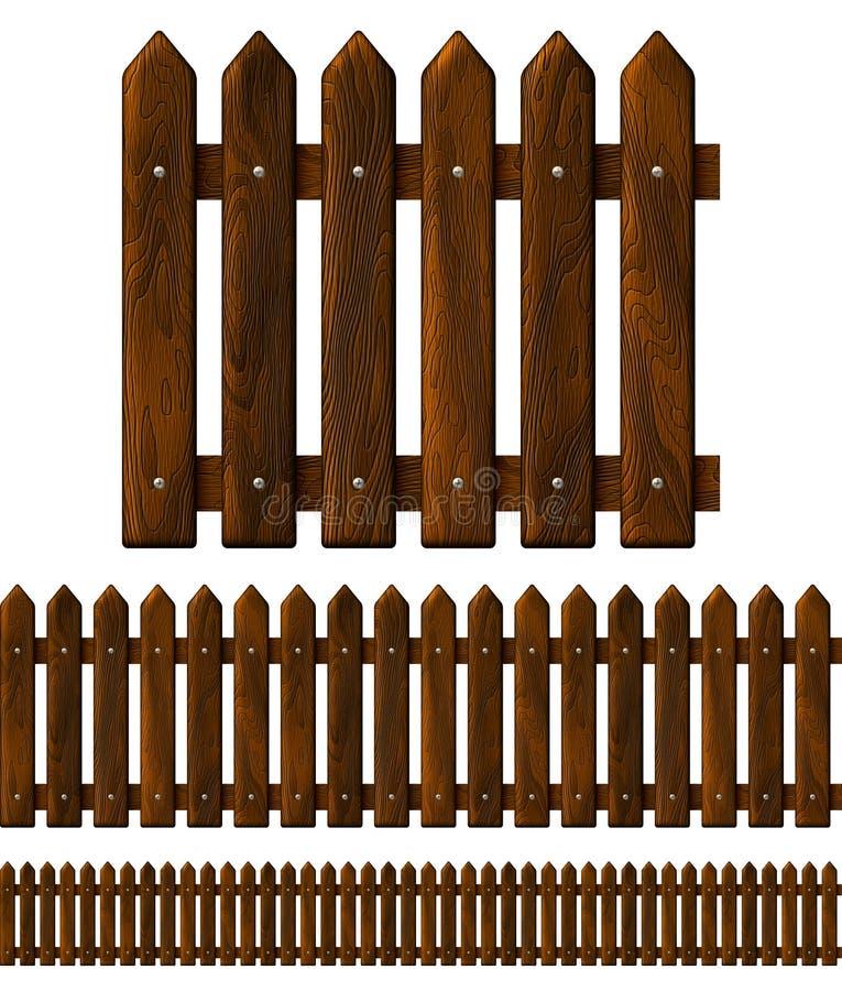 Άνευ ραφής ξύλινη φραγή διανυσματική απεικόνιση