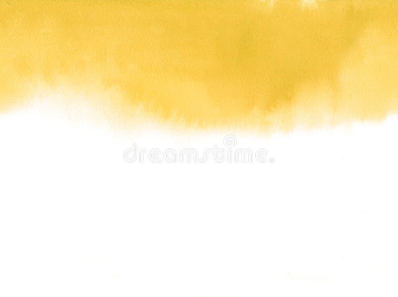 Άνευ ραφής οριζόντιος της κίτρινης κλίσης watercolor φθινοπώρου absrtract στοκ εικόνα με δικαίωμα ελεύθερης χρήσης