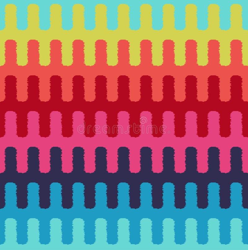 Άνευ ραφής οριζόντιο κυματιστό υφαντικό σχέδιο λωρίδων διανυσματική απεικόνιση