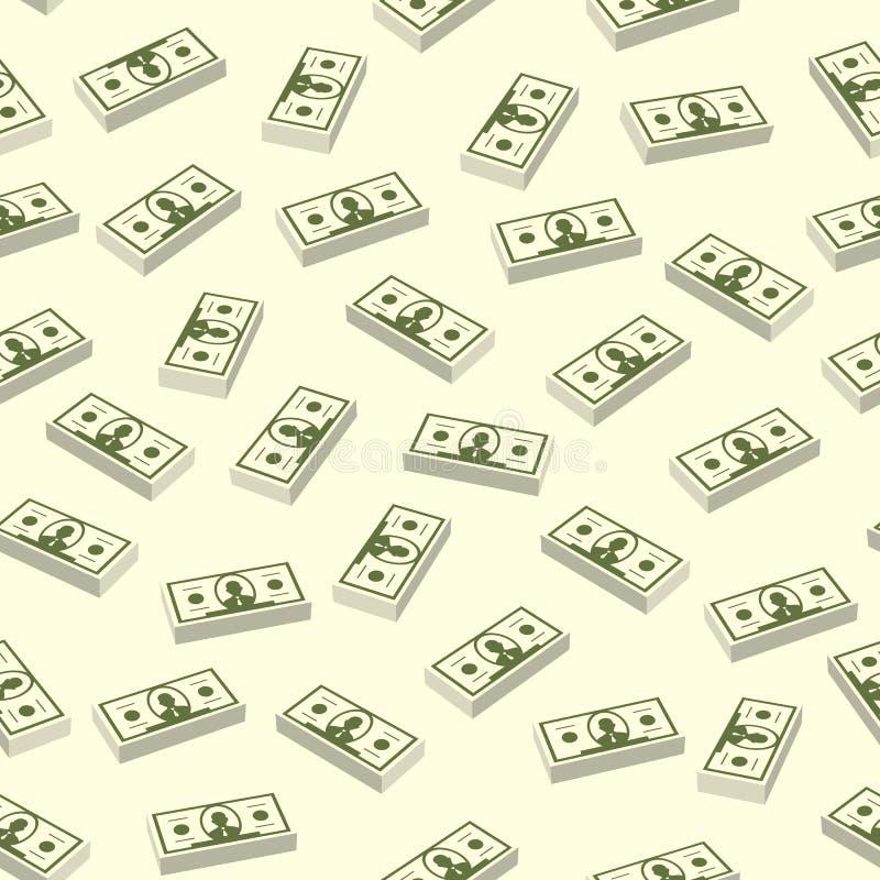 Άνευ ραφής δολάριο άνευ ραφής διάνυσμα διανυσματική απεικόνιση