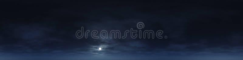 άνευ ραφής πανόραμα 360 βαθμού των σύννεφων στοκ φωτογραφία με δικαίωμα ελεύθερης χρήσης