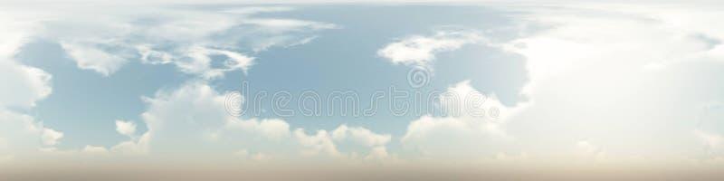 άνευ ραφής πανόραμα 360 βαθμού των σύννεφων στοκ εικόνες