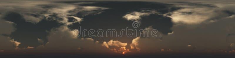 άνευ ραφής πανόραμα 360 βαθμού των σύννεφων στοκ φωτογραφίες