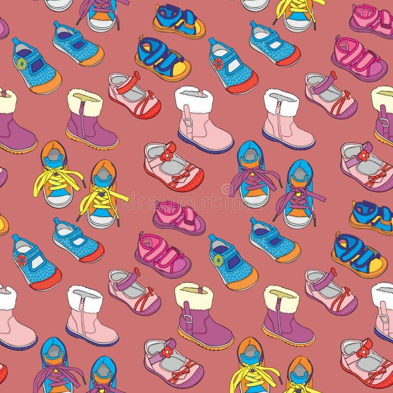 Άνευ ραφής παπούτσια διανυσματική απεικόνιση
