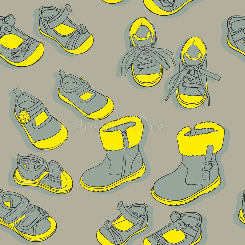 Άνευ ραφής παπούτσια απεικόνιση αποθεμάτων