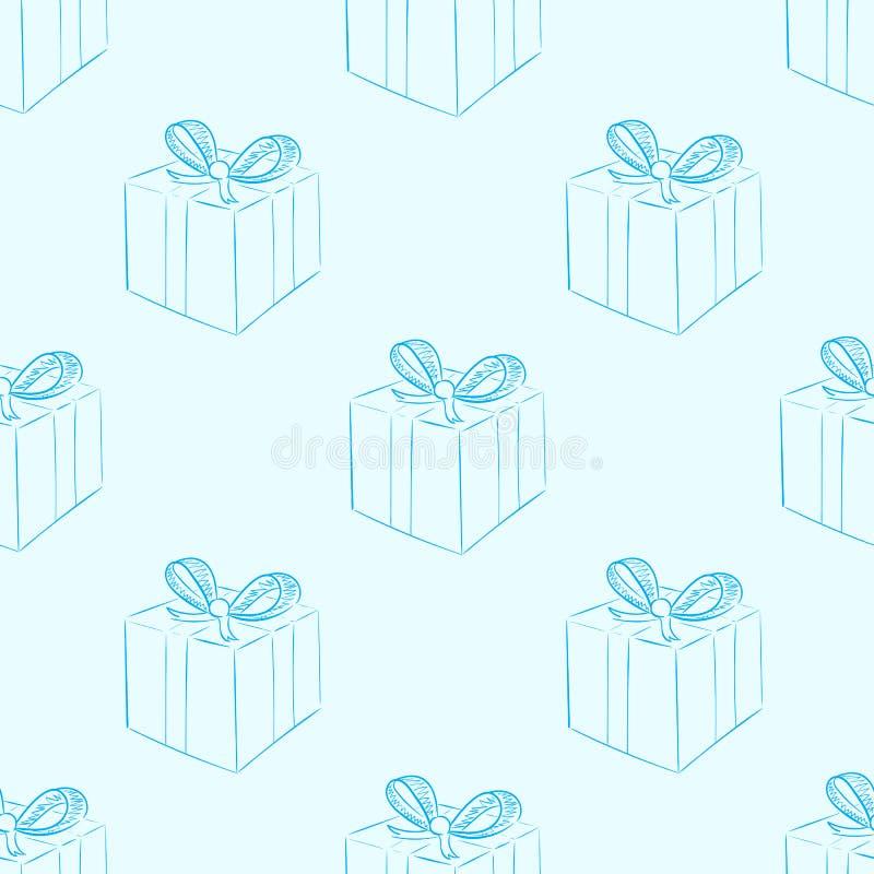 Download Άνευ ραφής περιγράμματα των δώρων Διανυσματική απεικόνιση - εικονογραφία από συσκευασία, απεικόνιση: 62724878