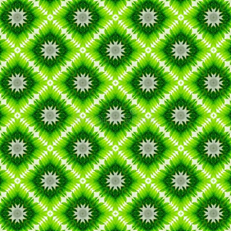 Άνευ ραφής πράσινο διακοσμητικό σχέδιο υποβάθρου στοκ εικόνα με δικαίωμα ελεύθερης χρήσης