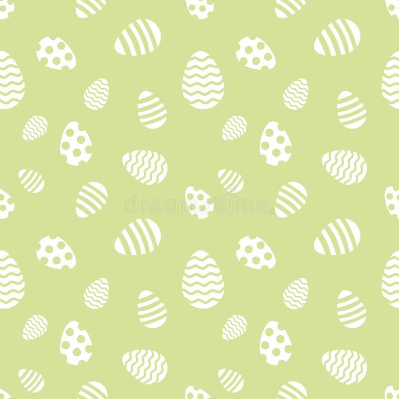 Άνευ ραφής πρότυπο αυγών Πάσχας ελεύθερη απεικόνιση δικαιώματος