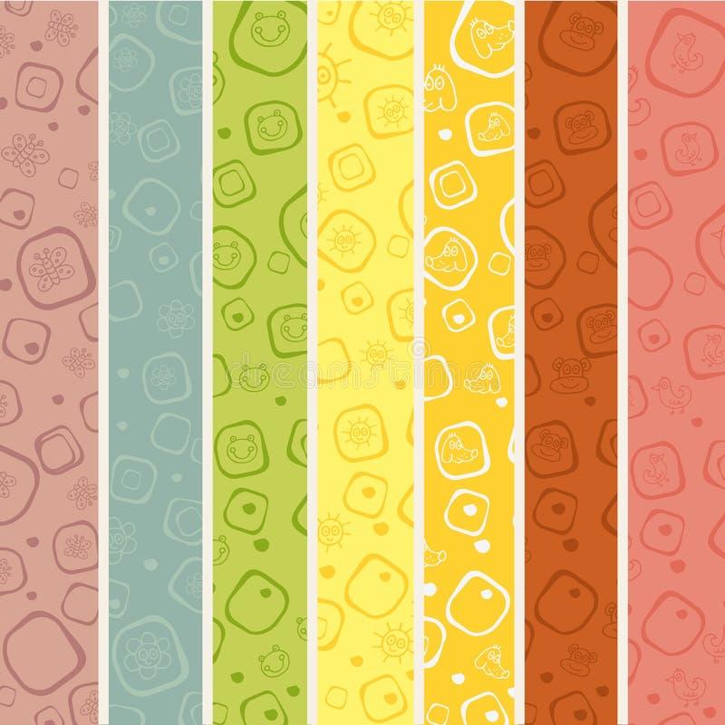Άνευ ραφής πρότυπο λωρίδων για τα κατσίκια διανυσματική απεικόνιση