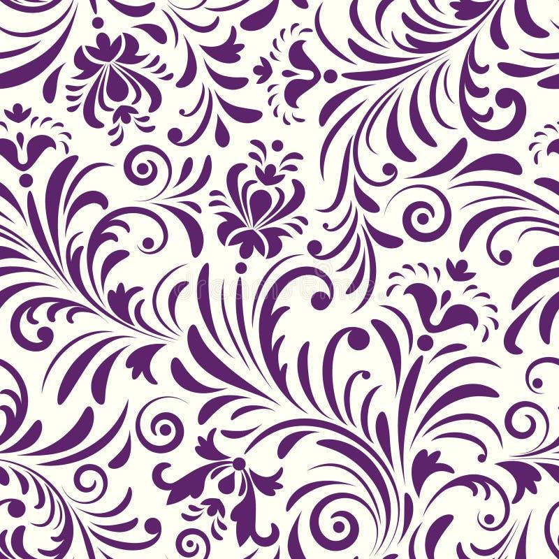 Άνευ ραφής πρότυπο με τα αφηρημένα λουλούδια διανυσματική απεικόνιση